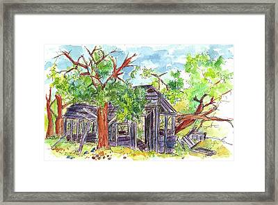 Framed Print featuring the painting Rockland Cabin by Cathie Richardson