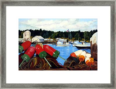 Rockland Harbor Framed Print by Laura Tasheiko