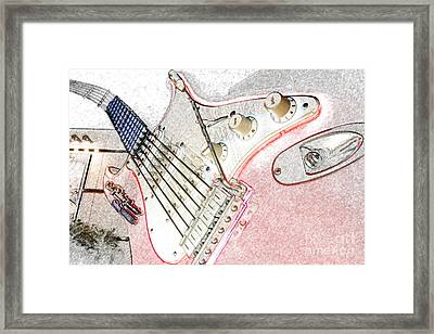 Rocknroller Coaster With Aerosmith Guitar Hollywood Studios Walt Disney World Prints Colored Pencil Framed Print by Shawn O'Brien