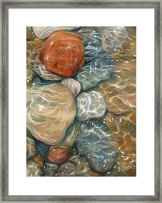Rockpool Framed Print by David Stribbling