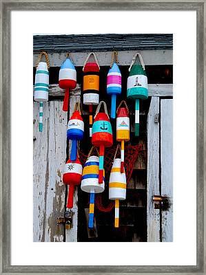 Rockport Bouys Framed Print