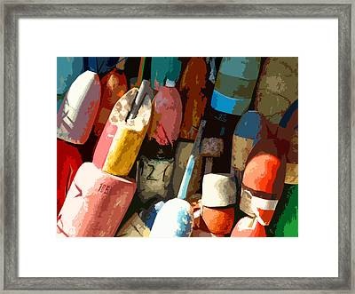 Rockport Buoys Framed Print
