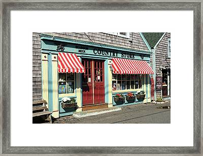 Rockport Country Store Framed Print by Lou Ford