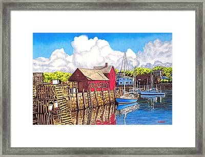 Rockport Cove Framed Print by David Linton