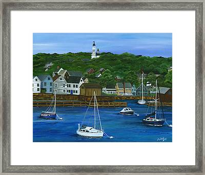Rockport Dawning Framed Print by Michelle Joseph-Long