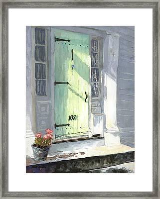 Rockport Doorway Framed Print