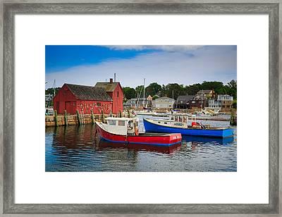 Rockport Harbor 2 Framed Print by Emmanuel Panagiotakis