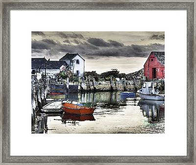 Rockport Harbor Early Morning Framed Print