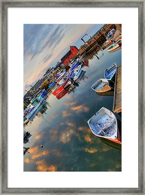 Framed Print featuring the photograph Rockport Harbor Motif #1  by Joann Vitali