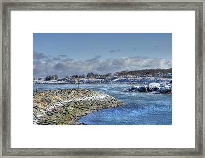 Rockport Ma Fishing Village Framed Print by Joann Vitali