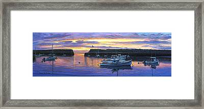 Rockport Ma Sunset Framed Print by Bruce Dumas