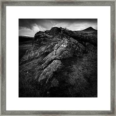 Rocks And Ben More Framed Print by Dave Bowman