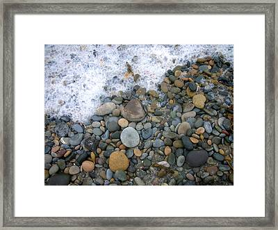 Rocks And Pebbles Framed Print