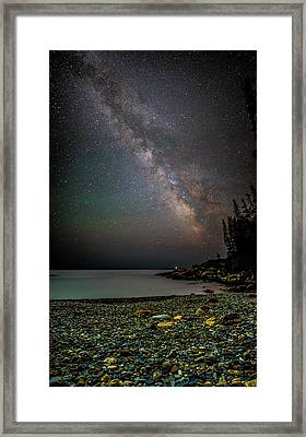 Rocks And Stars Framed Print by Brent L Ander