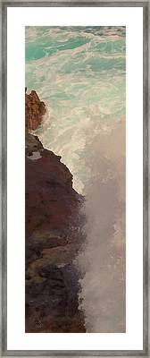 Rocks And Surf Framed Print