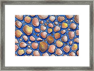Rocks And Water Abstract Framed Print