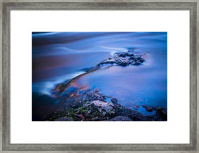 Rocks And Water Framed Print by Marvin Spates