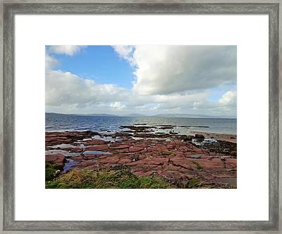 Rocks And Water Framed Print by Neha Gupta