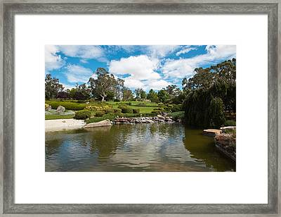 Rocks And Water Stream Framed Print