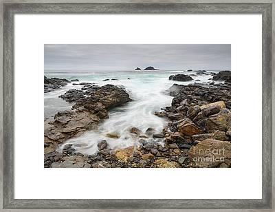 Rocks At Cape Cornwall  Framed Print