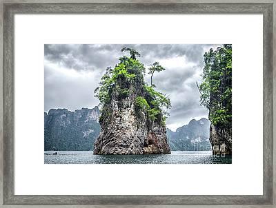 Rocks At Khao Sok Framed Print
