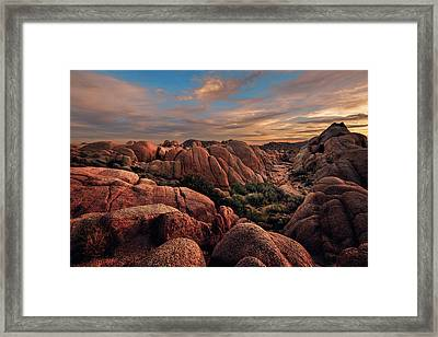 Rocks At Sunrise Framed Print