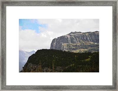Framed Print featuring the photograph Rocks Clouds And Trees by Kae Cheatham