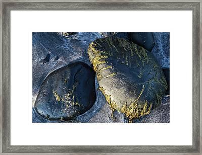 Rocks From Talisker Beach 2 Framed Print by Davorin Mance