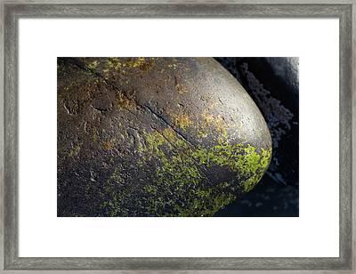 Rocks From Talisker Beach 3 Framed Print by Davorin Mance