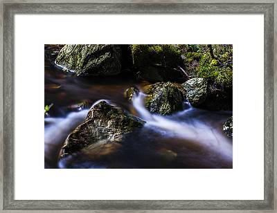 Rocks In A Stream Framed Print