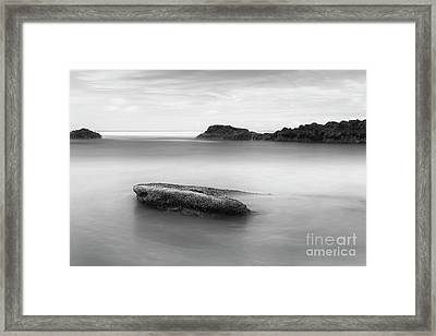 Rocks In The Water Framed Print by Masako Metz