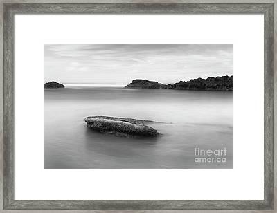 Rocks In The Water Framed Print