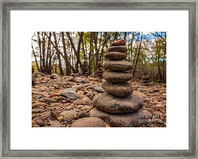 Rocks Mark The Spot Framed Print