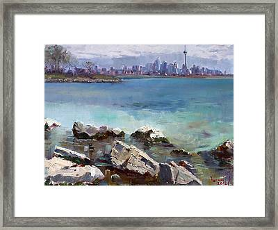 Rocks N' The City Framed Print