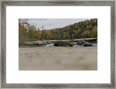 Rocks On Cumberland River Framed Print