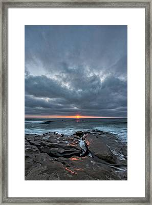 Rocks On Fire Framed Print by Peter Tellone