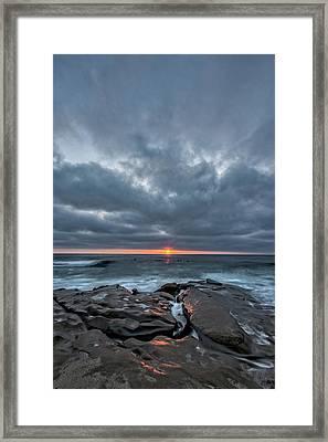 Rocks On Fire Framed Print