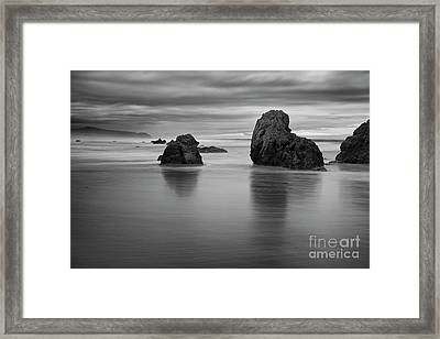 Rocks On The Beach Framed Print by Masako Metz