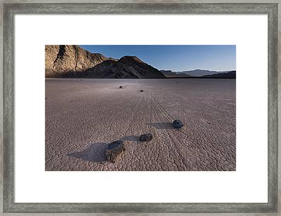 Rocks On The Racetrack Death Valley Framed Print