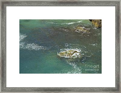 Rocks Touched By The Sea Framed Print by Angelo DeVal