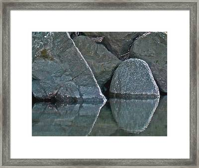 Rocks Framed Print by Wilbur Young