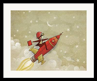 Rocket Framed Prints