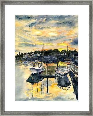 Rocktide Sunset Framed Print