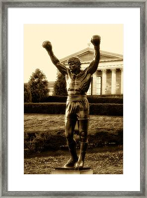 Rocky - Heart Of A Champion  Framed Print