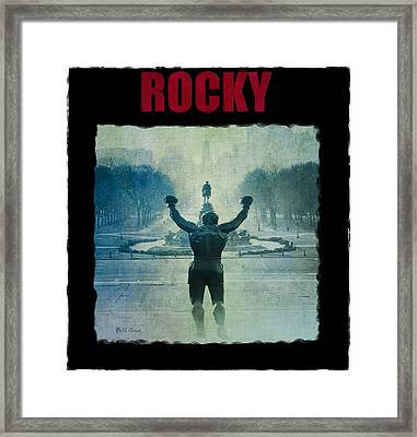 Rocky Balboa On Top Of The Art Museum Steps Framed Print