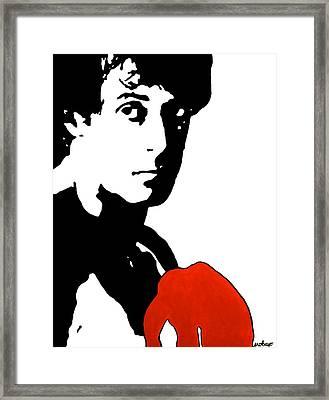 Rocky Balboa Painting Framed Print by Stephanie Robayo