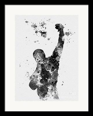 Boxing Mixed Media Framed Prints