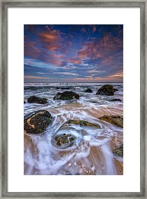 Rocky Beach At Sandy Hook Framed Print by Rick Berk