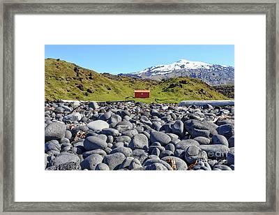 Rocky Beach Iceland Framed Print