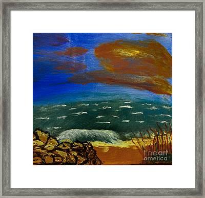 Rocky Beach Framed Print by Scott Hervieux